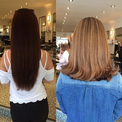 Amazing before and after done by Amy at the salon
