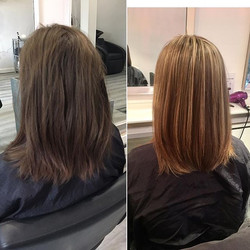 Jessica came in with natural virgin hair, she felt dull and washed out with her natural colour