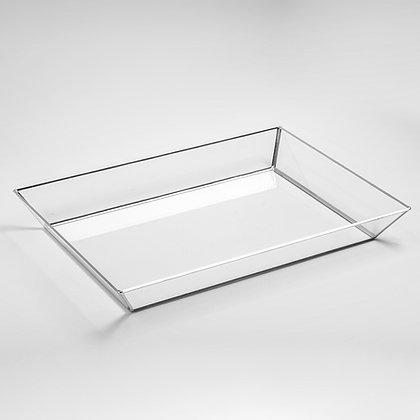 Gümüş Silver Geometrik Dekoratif Söz Nişan Tepsisi