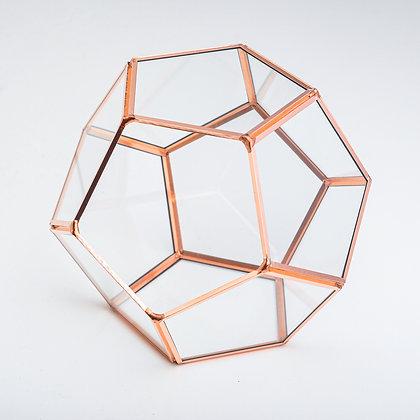 Bakır Rose Gold Mini Geometrik Teraryum Fanus Yüzük Kutusu Mumluk