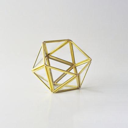 Gold Pirinç Brass Geometrik Teraryum Fanus Yüzük Kutusu