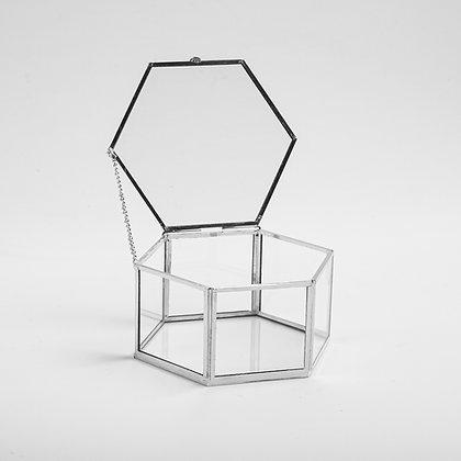 Gümüş Silver Geometrik Kapaklı Yüzük Takı Aksesuar Kutusu