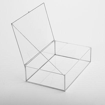 Gümüş Kapaklı Kutu 30x20x8cm