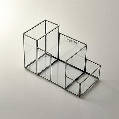 Kalemlik Organizer Geometrik Siyah Antrasit  12x10x5cm