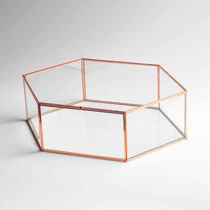 Bakır Rose Gold Geometrik Kapaklı Kutu