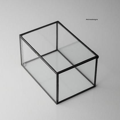 Siyah Kapaklı Kutu 15cm x 10cm x 8cm