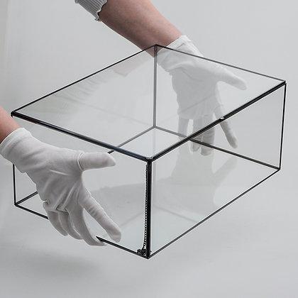 Kapaklı Kutu Antrasit Siyah Damat Bohçası 35x25x15cm