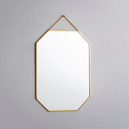 Ayna Pirinç Gold Brass Dekoratif Duvar Askılı 28x20cm
