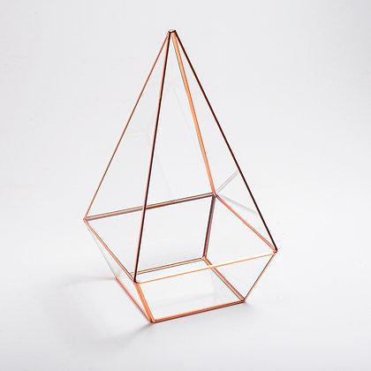 Bakır Rose Gold Geometrik Cam Teraryum Fanus