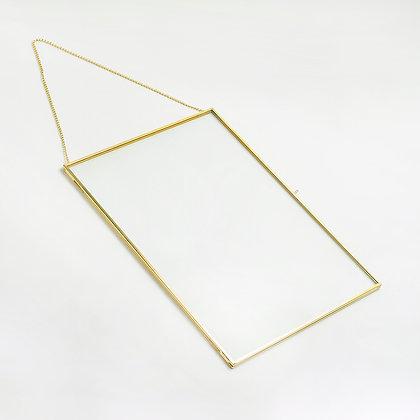 Gold Pirinç Brass Duvar Askılı Fotoğraf Çerçevesi 35x25cm