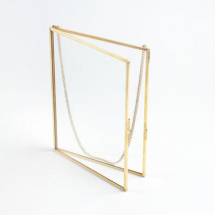 Gold Pirinç Brass Fotoğraf Çerçevesi 20x15cm