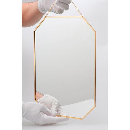 Ayna Pirinç Gold Brass Dekoratif Duvar Askılı 35x25cm