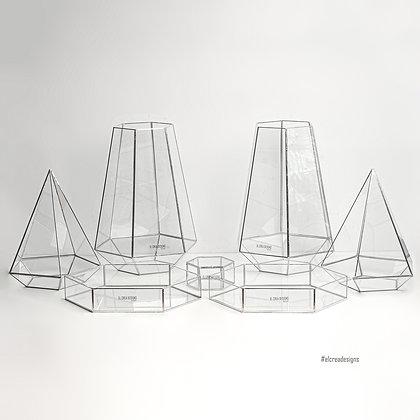 Gümüş Nişan Masası Organizasyon Cam Dekoratif Sunum Seti