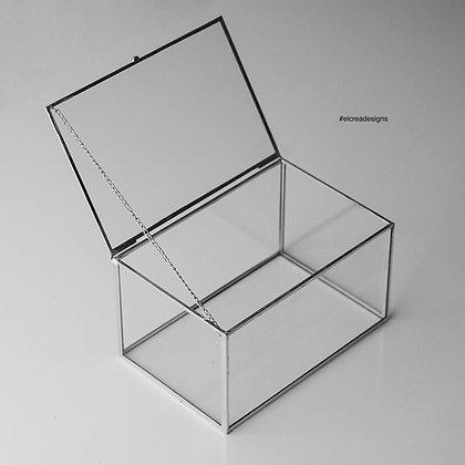Gümüş Kapaklı Kutu 15x10x8cm