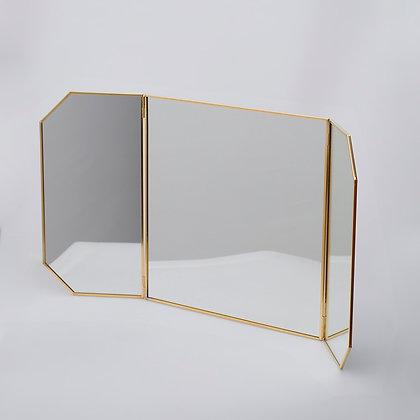 Dekoratif Pirinç Ayna Masaüstü Kapaklı 60cm/30cmx30cm