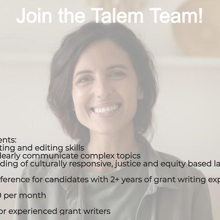 Talem is Seeking Part-time Grant Associates