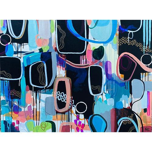 """The Little Blue House"" Original Painting"