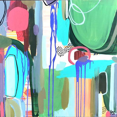 """""""Palms"""" Original Painting"""