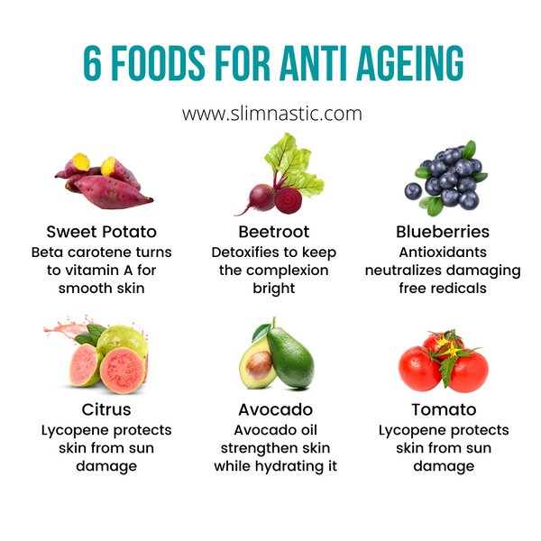 6 foods for anti ageing