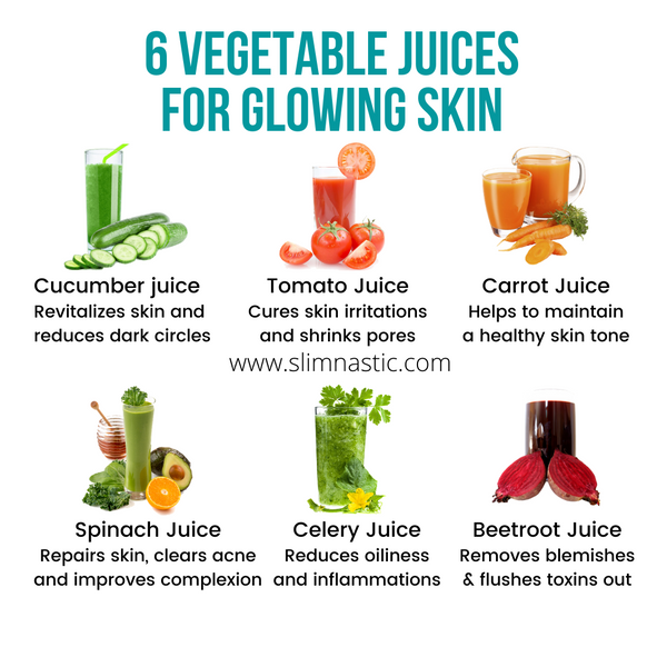 6 vegetable juices for glowing skin