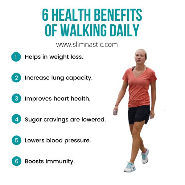 6 health benefits of walking daily