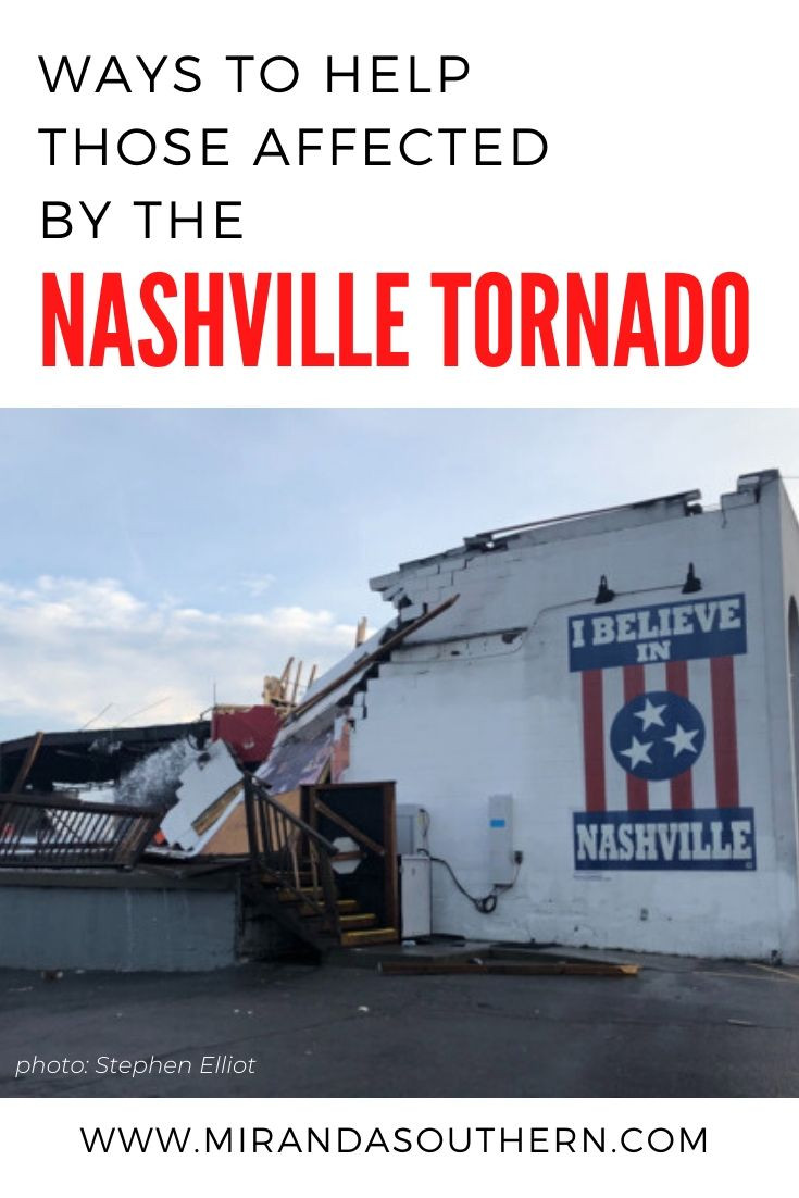 Ways to help Those Affected by the Nashville Tornado