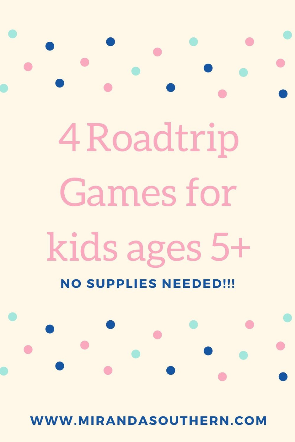 Three Games To Play in the Car with Kids Ages 5+
