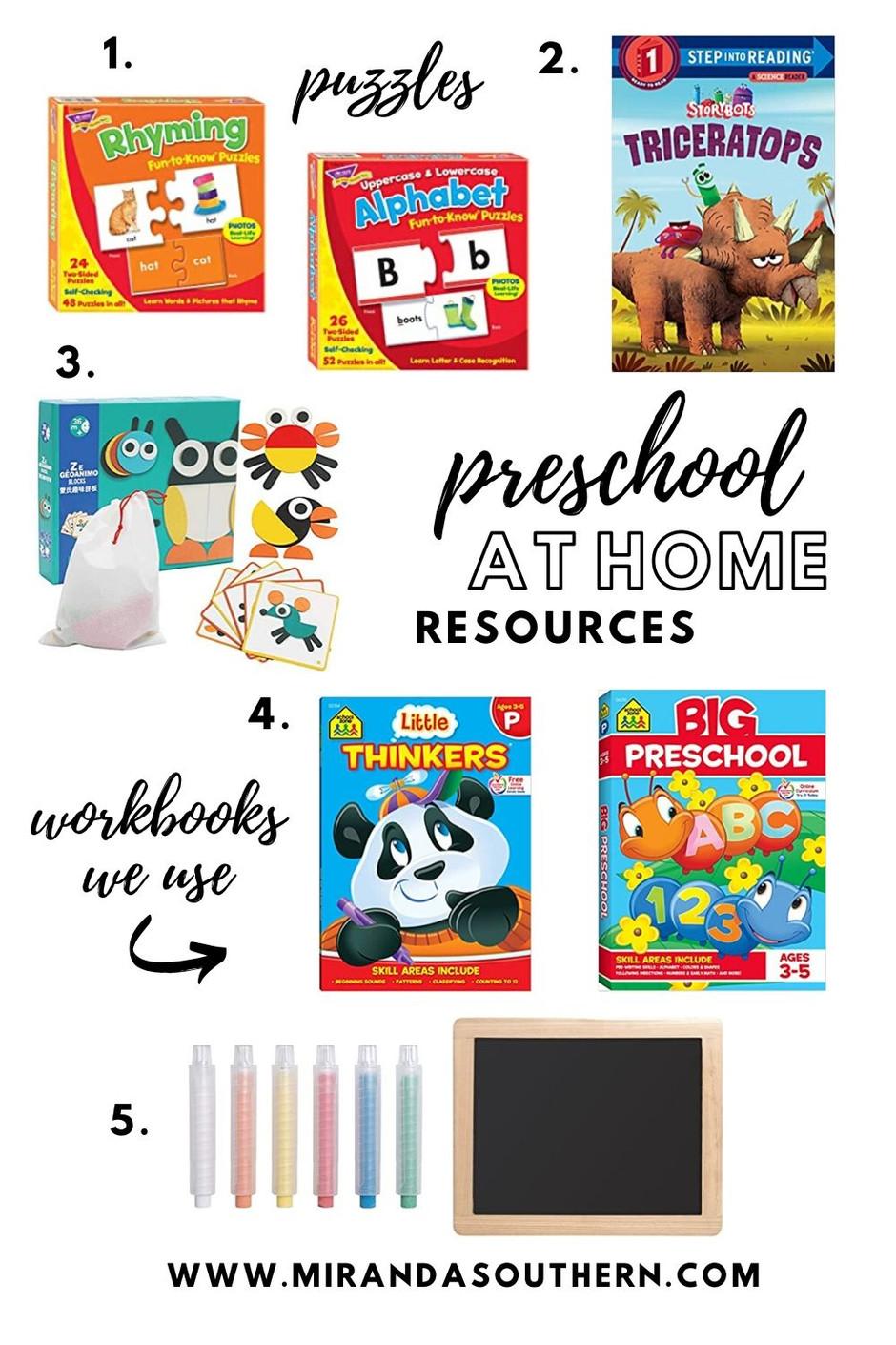 At Home Preschool Resources