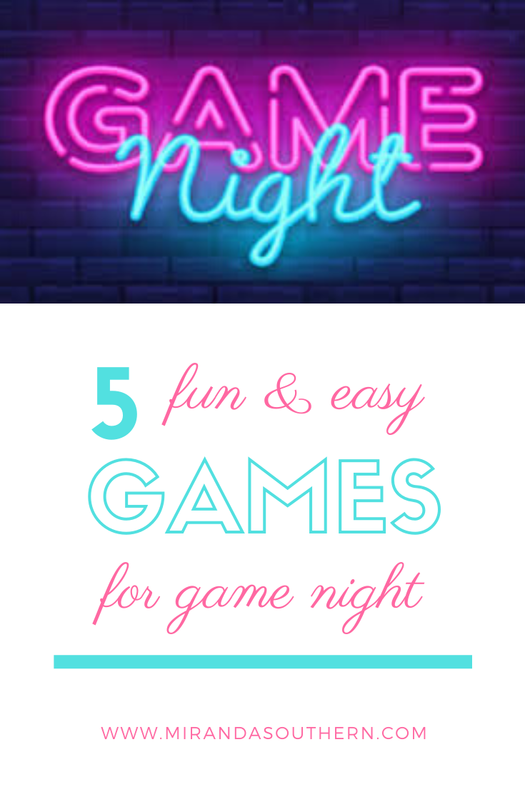 5 Fun & Easy Games for an Adult Game Night