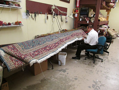We offer Repair or Replacing Fringes on your rugs