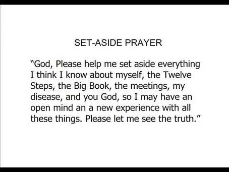 The Set-Aside Prayer