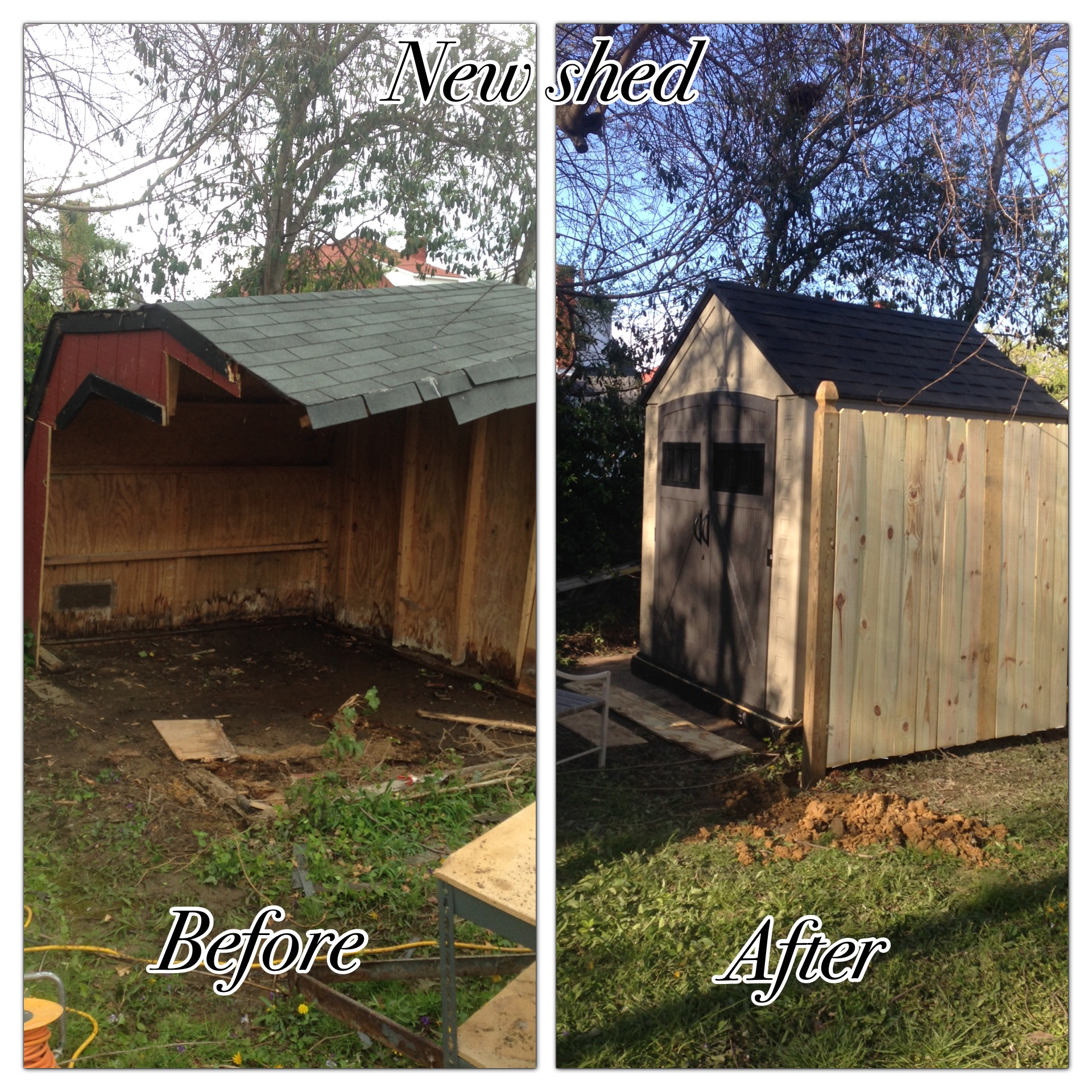 Shed tear down, and shed rebuild