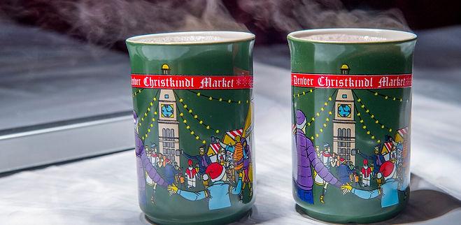 At the Denver Christkindl Market, Collectable hot spiced wine mugs