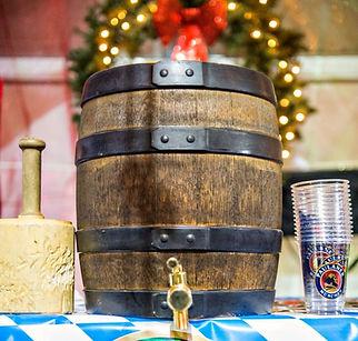 At the Denver Christkindl Market, German Beer, ceremonial keg tap