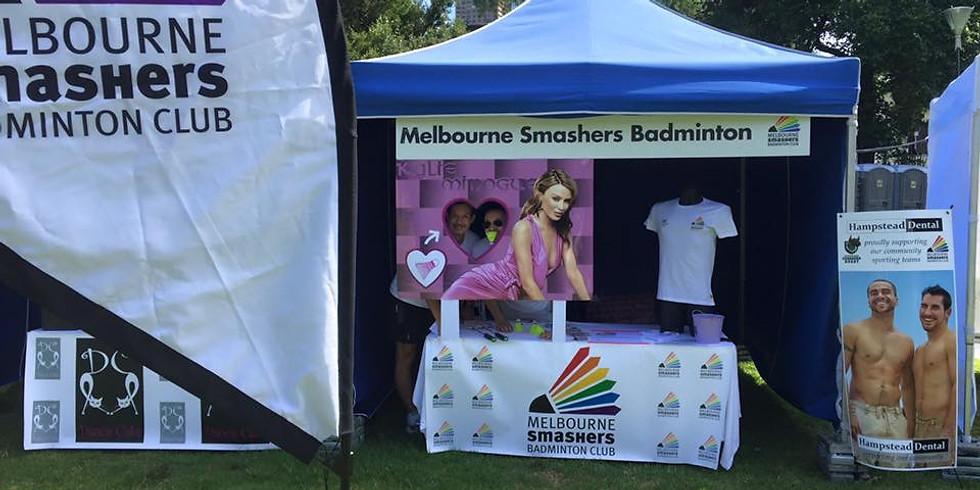 Melbourne Smashers Stall - Midsumma (CSC)
