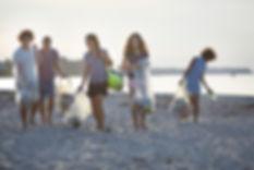 Volunteers Cleaning Beach