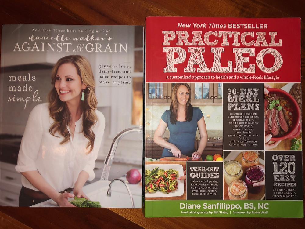 Two great books on healthy sugar free, grain free and sometimes dairy free books
