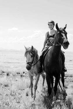Ein fantastischer, warmer Tag am Bodensee und aus dem nichts taucht Mira JuleMarlene mit zwei Pferde