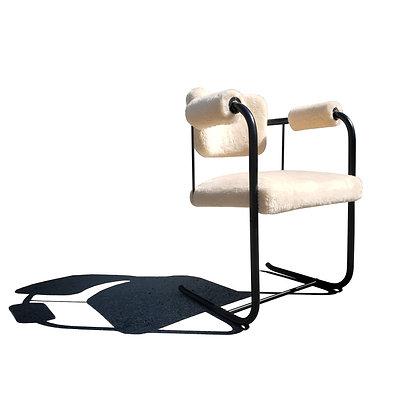 A mid-century / modernist tubular armchair - desk chair