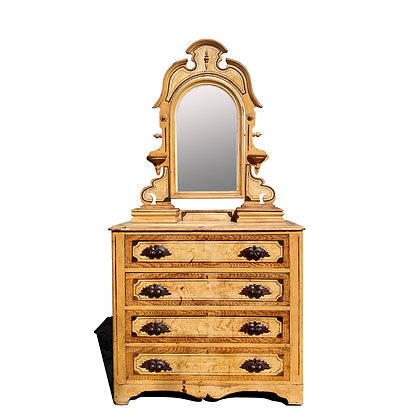 An Antique American Renaissance Victorian Painted Dresser with mirror.