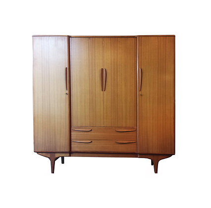 French mid-century modern by Meuble TV armoire