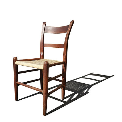 A rustic / country rope single chair in the manner of Charlotte Perriand