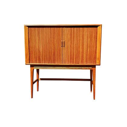 A danish modern Kurt Ostervig tambour door teak wood dry bar