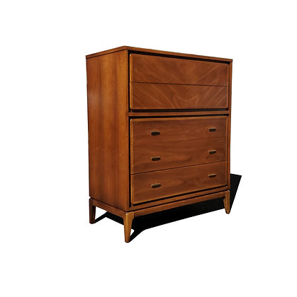 A MID CENTURY MODERN Kent Coffey highboy dresser