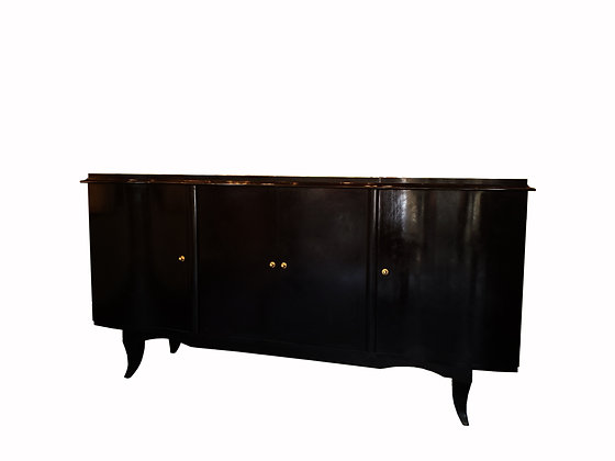 French 1930's Art Deco black lacquered credenza / Buffet