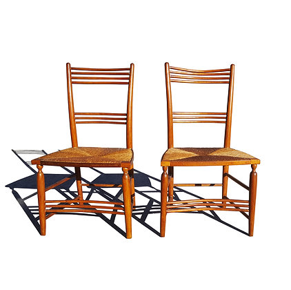 A pair of antique traditional countryside chairs