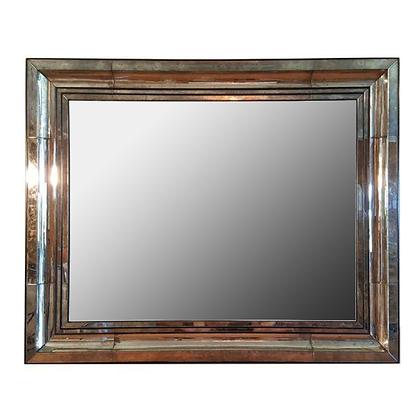 Antique 1940s Smoked Tone Mirror