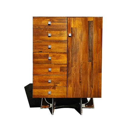 A mid-century modern - Brutalist - space age - Wardrobe - armoire by Vallieres