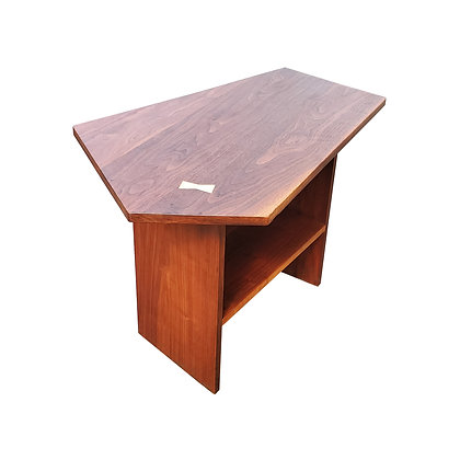 A mid-century modern side table - night stand in the manner of George Nakashima