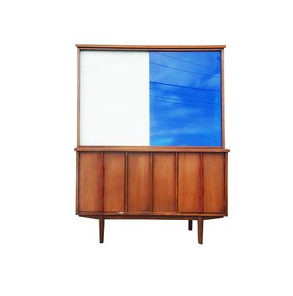 A mid-century modern / Brutalist display cabinet / hutch